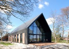 houses : Lofthome UK Ltd Residential Architecture, Modern Architecture, Gable Roof Design, Modern Barn House, Contemporary Barn, Barn Renovation, Loft House, Shed Homes, Exterior Design