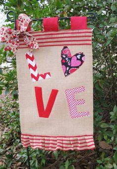 20% OFF Today Valentine's Day Garden Flag by TallahatchieDesigns