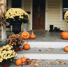 """""""We only carved one this morning so that we can do one each day this week. In need of a helpful pumpkin carving tip? Cut your hole in the bottom of the…"""""""