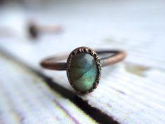 This striking labradorite ring. | 26 Enchanting Gemstone Accessories You Must Buy