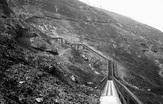 The walkway up Mt Washington before the inclines.
