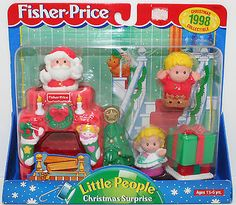 Adorable 1998 Christmas Surprise Little People Fisher Price New in Box Very RARE | eBay $36