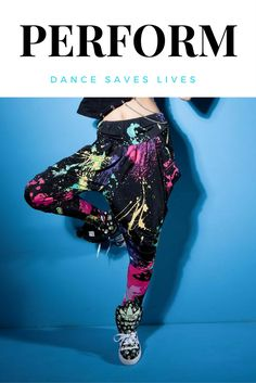 Paint splatter hip hop dance pants.