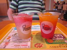 Mister donut peach and mango drink