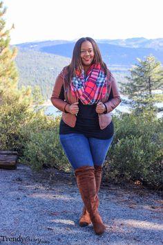 Lake Tahoe | Fall Fashion | TrendyCurvy