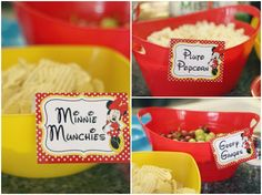 62 Trendy Ideas Baby First Birthday Girl Food Minnie Mouse Mickey 1st Birthdays, Mickey Mouse First Birthday, Mickey Mouse Clubhouse Birthday Party, Mickey Party, Girl First Birthday, First Birthday Parties, Birthday Ideas, Elmo Party, Mickey Mouse Parties