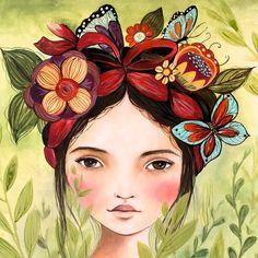 Impresión del arte inspirado en Frida por claudiatremblay en Etsy