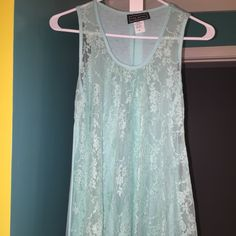 Lace tank top Lace front tank top. May have been worn once. Good condition. Park Avenue  Tops Tank Tops