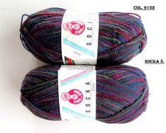 KNITTING WOOL//SOCKA 50// (2x 50gr.) Sport Wool by-Stahal for Socks.Variegated/ 2 balls Makes 1 Adult pair of Socks//Was(24.00) Now!