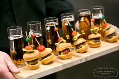 Mini Bugers and Beer Shooters by D'Amico Catering, via Flickr