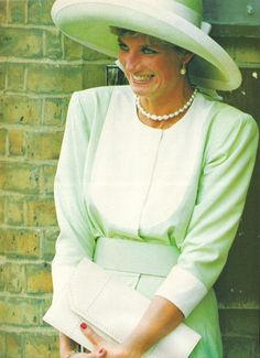 August 30, 1991: Princess Diana at the wedding of former flatmate, Virgina Pittman.