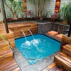 Spool Tiny Pools- Let us custom design your swimming pool and landscaping! www.geremiapools.com #swimming #pool #landscaping