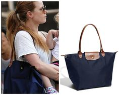 Celebrity diaper bags: Amy Adams Longchamps Le Pliage bag | Cool Mom Picks,  $145 at Nordstrom.