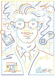Jordy Van den Nieuwendijk for Lacoste Art And Illustration, People Illustration, Illustrations And Posters, Inspiration Artistique, Art Graphique, Grafik Design, Art Design, Graffiti, Line Art