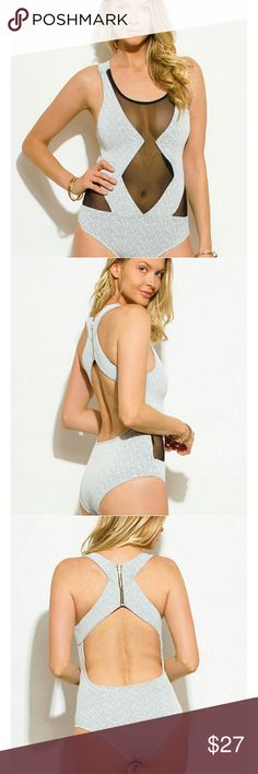 Sexy bodysuit Mesh patch bodysuit. This piece is super sexy and great for a night out or a day out! Item is as shown in photos above Tops
