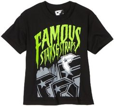 Amazon.com: Famous Stars and Straps Boys 8-20 Fierce Youth Tee, Black, Small: Clothing