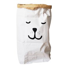 TellKiddo Sleeping Bear Paper Storage Bag Leo and Bella