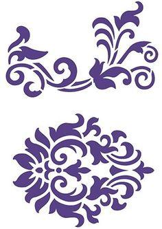 Flex-Schablone-von-Viva-Decor-D4-Schnoerkel-und-Motiv-Swirl-Ornament-21x14-8cm