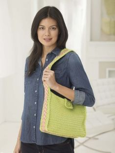 Crochet this bag and line the handle with your favorite Duct Tape print.