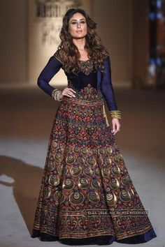 Kareena Kapoor Khan walks the ramp for designer Rohit Bal on Grand finale of the Lakme Fashion Week 2016 held at St Xavier's College in Mumbai. LFW '16 Grand Finale: Rohit Bal Photogallery at Times of India