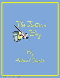 The Janitor's Boy Novel Unit ~ Common Core Standards Aligned!