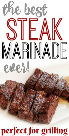 Easy and simple red wine steak marinade with soy sauce, garlic, sesame oil. This gluten free marinade recipe is easy and perfect for grilling steak on the BBQ. Marinade Für Steaks, Steak Marinade For Grilling, Steak Marinade Recipes, Grilled Steak Recipes, How To Grill Steak, How To Marinate Steak, Simple Steak Marinade, Homemade Steak Marinade, Marinated Steak