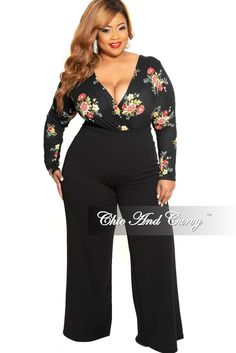 e125258bff Final Sale Plus Size High-Waist Wide Leg Pants with Back Gold Zipper in  Black