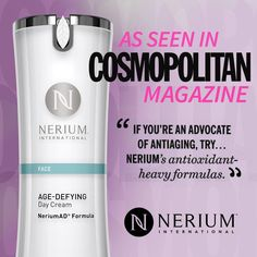Cosmopolitan's September issue highlights Nerium's skincare products as one of the top anti-aging options in the industry!