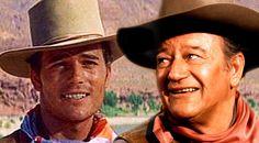 John Wayne's Son, Patrick Wayne, Remembers His Father Through Four Of His Greatest Movies! John Wayne Son, John Wayne Quotes, John Wayne Movies, Western Film, Western Movies, Wayne Family, Patrick Wayne, John Ford, Old Movie Stars
