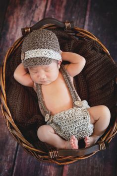 Newborn Crochet Hat Diaper Cover and by MadhatterknitsCo on Etsy, $30.00
