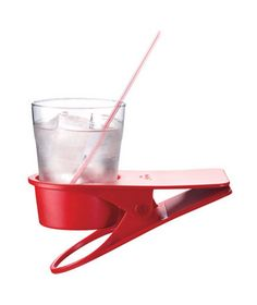 Drinklip Portable Cup Holder—Can't get your kids to use a coaster? You might have better luck with this fun clip-on cup holder.