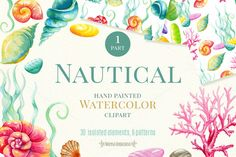 Nautical watercolor clipart. Part 1 by Maryna on @creativemarket