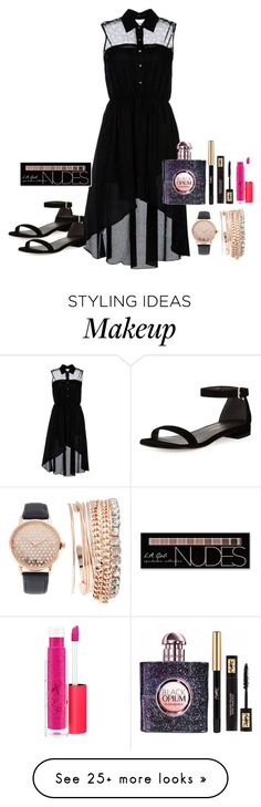 """""""Best wishes"""" by meen16 on Polyvore featuring Traffic People, Stuart Weitzman, Charlotte Russe, Yves Saint Laurent, MAC Cosmetics and Jessica Carlyle"""