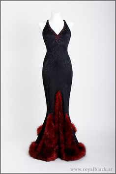 Royalblack 749 - make the dress in green & you'll look like a pahutukawa tree in bloom! :D