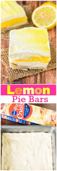Lemon Pie Bars, my favorite summer dessert recipe! @bracdream I thought of you and your love for lemon!