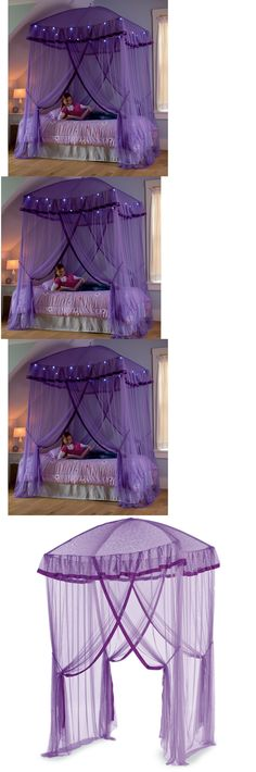 MAGICAL PURPLE BED CANOPY. Sweet dreams will bloom under this magical hanging purple bed canopy. Hang it over any bed and make bedtime beautiful wiu2026  sc 1 st  Pinterest & MAGICAL PURPLE BED CANOPY. Sweet dreams will bloom under this ...