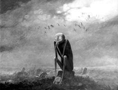 """""""The Wondering"""" ~ by Zdzisław BEKSINSKI."""