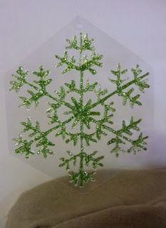 Flocon de neige dessiné à la DIAM'S 3D