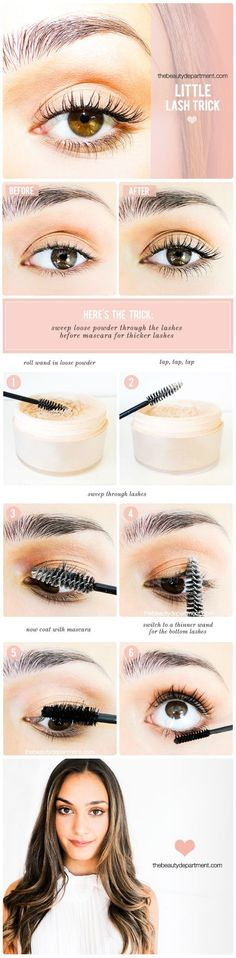 How to get thicker lashes! (Tutorial by @amynadine):