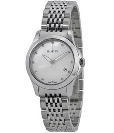 cce903cd7eb Gucci G Timeless Mother of Pearl Diamond Dial Stainless Steel Ladies Watch