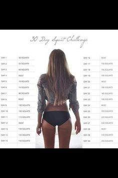 Squat challenge. Ill either hurt myself or get a great butt. Want to take bets?
