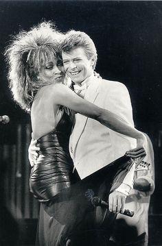 Tina Turner & David Bowie....I love this pic!