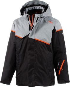 #CMP #Skijacke #Jungen #schwarz/grau/orange