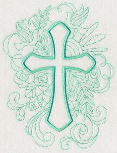 Doodle Cross 2 design (M2923) from www.Emblibrary.com