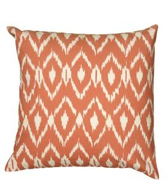 This ikat-print pillow adds a chic, earthy touch to any stylish abode.