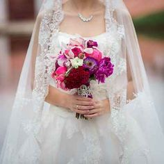 Pink peony wedding bouquet by Yanna Levina photography