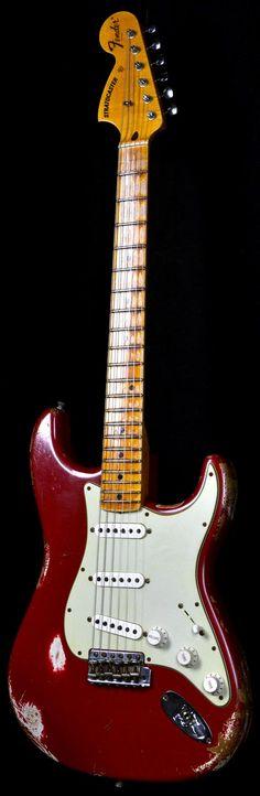 Fender 1969 Stratocaster Heavy Relic Faded Dakota Red w/ Reverse Headstock   Electric Guitars   Wild West Guitars