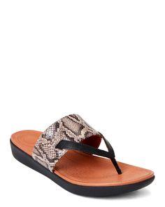 Look At This Zulilyfind Black Snakeskin Flip Flop By