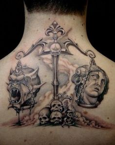 22 Best Good And Evil Tattoos Images In 2017 Good Evil Tattoos