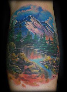 river scene tattoo - Google Search
